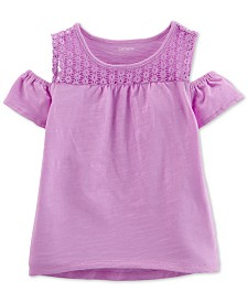 Carter's Toddler Girls Cold-Shoulder Cotton Top