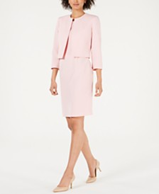 Le Suit Open-Front Jacket & Dress Suit