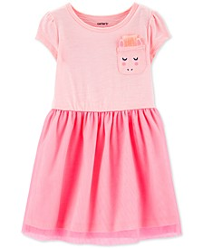 Toddler Girls Unicorn Pocket Tulle Dress