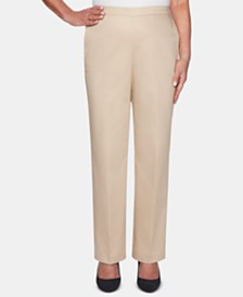 Alfred Dunner Society Pages Straight-Leg Pants