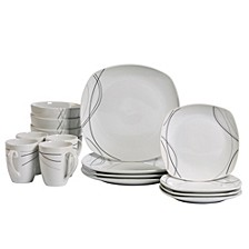 Alec 16-Pc. Ash White Set, Service for 4