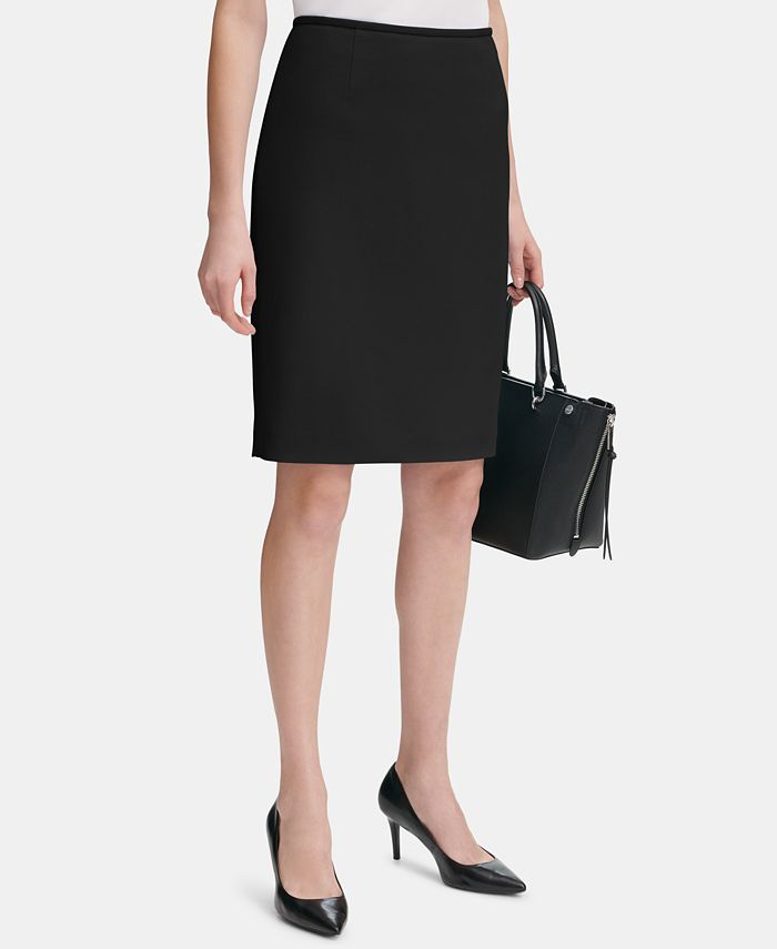 Calvin Klein - Scuba Crepe Pencil Skirt