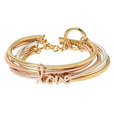 BCBGeneration 'Love' Affirmation Multi Row Toggle Bracelet