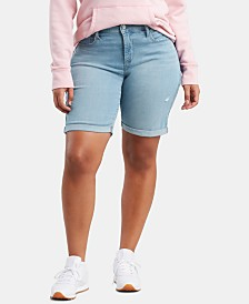 Levi's® Plus Size Shaping Bermuda Jean Shorts