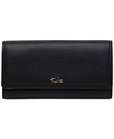 Tula England Flapover Leather Wallet
