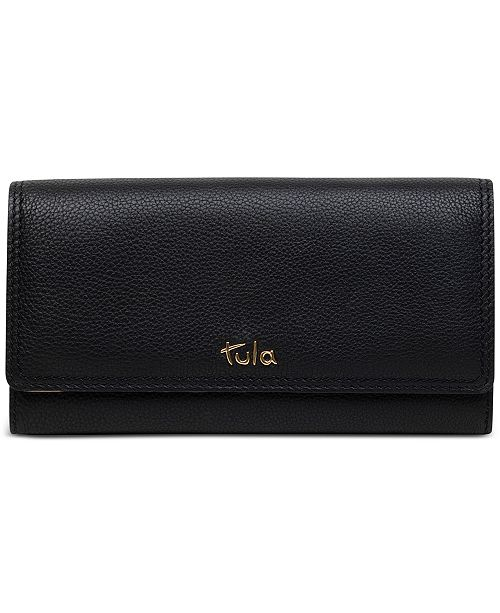 tula Flapover Leather Wallet