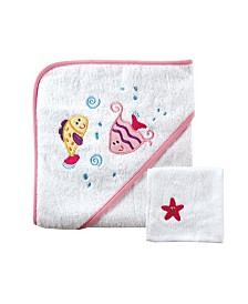 Luvable Friends Hooded Towel with Washcloths,One Size