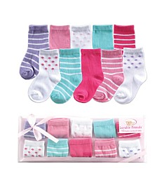 Luvable Friends Socks Gift Set, 10-Pack, 0-9 Months