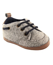 Luvable Friends Wooly Sneakers, Grey, 0-18 Months