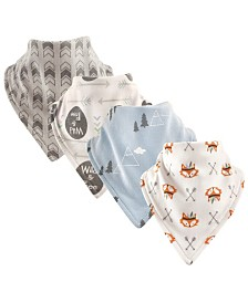 Luvable Friends Bandana Bibs, 4-Pack, Wild and Free, One Size