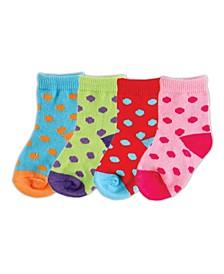 Socks, 4-Pack, 0-6 Months