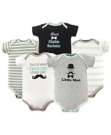 Luvable Friends Bodysuits, 5-Pack, 0-24 Months