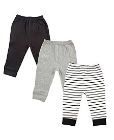 Luvable Friends Baby Tapered Ankle Pants, 3-Pack, 3 Months-5T