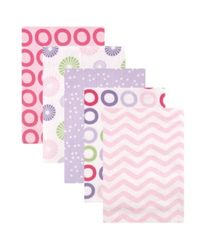 Luvable Friends Flannel Receiving Blankets, 5-pack, One Size In Pink