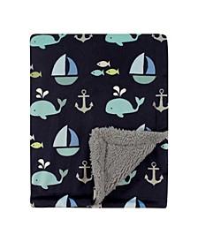 Mink/Sherpa Blanket, One Size