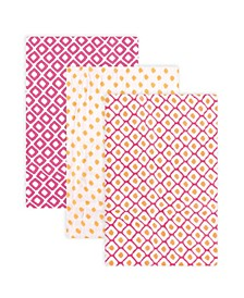 Girl Muslin Swaddle Blankets, 3-Pack, One Size