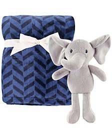 Plush Blanket and Toy, 2-Piece Set, Boy Elephant, One Size