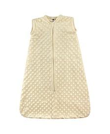 Safe Sleep Wearable Dotted Mink Plush Sleeping Bag, 0-24 Months