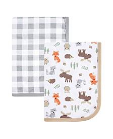 Interlock Cotton Swaddle Blanket, 2-Pack, One Size