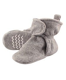 Hudson Baby Fleece Lined Scooties with Non Skid Bottom, 0Months-4T