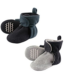 Fleece Lined Scooties with Non Skid Bottom, 2-Pack, 0Months-4T