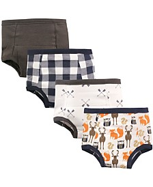 Hudson Baby Toddler Water Resistant Training Pants, 4-Pack, 12 Months-4T