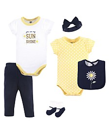 Hudson Baby Clothing Set, 6-Piece, Daisy, 0-12 Months