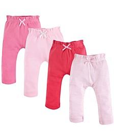Organic Harem Pants, 4-Pack,0-24 Months