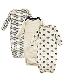 Organic Cotton Sleep Gown, 3-Pack, 0-6 Months
