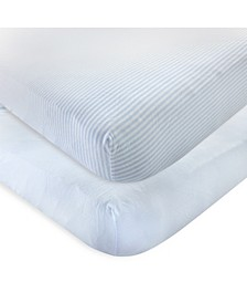 Organic Fitted Crib Sheets, 2-Pack, One Size