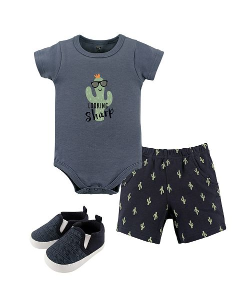 Baby Vision Hudson Baby Dress, Cardigan and Shoes, 3-Piece Set, Flamingos, 0-18 Months