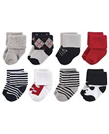 Little Treasure Terry Socks, 8-Pack, 0-12 Months