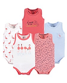 Sleeveless Bodysuits, 5-Pack, 0-24 Months