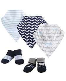 Yoga Sprout Bandana Bibs and Socks, 5-Piece Set, 0-9 Months