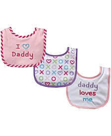 Baby Bibs, 3-Pack, One Size