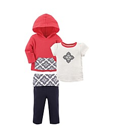 Toddler Hoodie, Tee Top and Pants, 3-Piece Set, 2T-5T