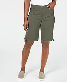 Solid Tie-Cuff Shorts, Created for Macy's