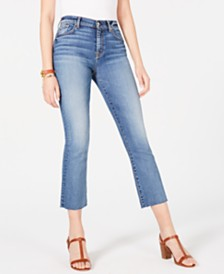 7 For All Mankind Cropped Frayed-Hem Jeans