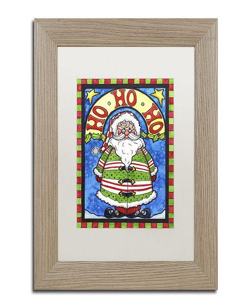"""Trademark Global Jennifer Nilsson HoHoHo Matted Framed Art - 11"""" x 14"""" x 0.5"""""""