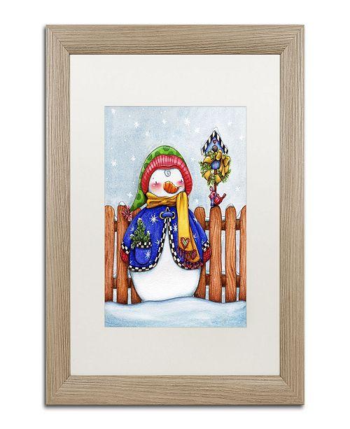 """Trademark Global Jennifer Nilsson Winter Friends Matted Framed Art - 16"""" x 20"""" x 0.5"""""""