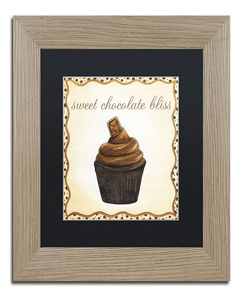 "Trademark Global Jennifer Nilsson Chocolate Cupcake Matted Framed Art - 16"" x 20"" x 0.5"""