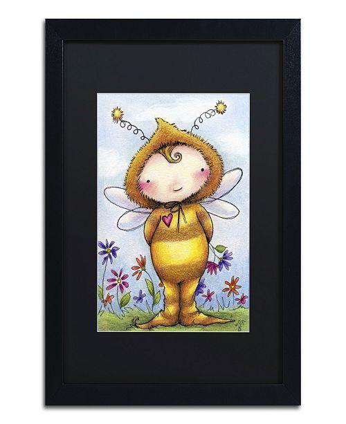 "Trademark Global Jennifer Nilsson Baby Bumble Matted Framed Art - 16"" x 20"" x 0.5"""