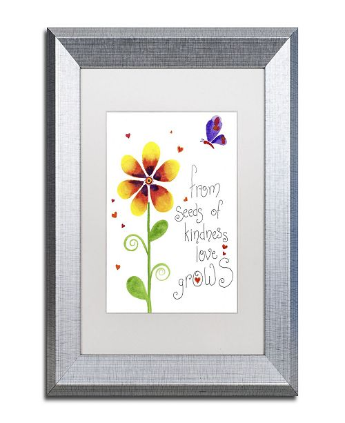 "Trademark Global Jennifer Nilsson Seeds of Kindness Matted Framed Art - 16"" x 20"" x 0.5"""