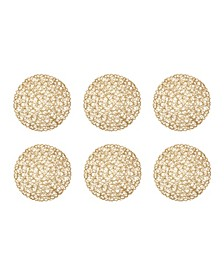 Woven Paper Round Placemat, Set of 6
