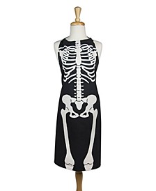 Skeleton Print Chef Apron