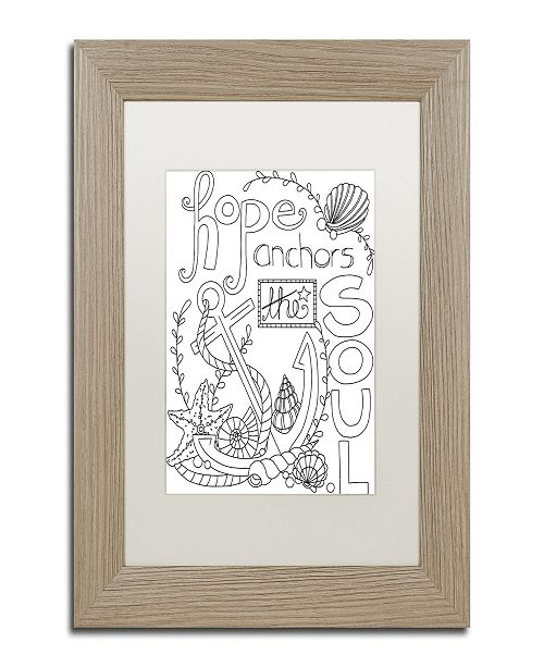 "Trademark Global Jennifer Nilsson Anchor for the Soul Matted Framed Art - 11"" x 14"" x 0.5"""