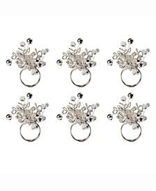 Multi Bead Napkin Ring, Set of 6