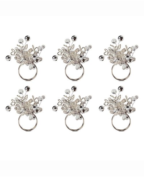 Design Import Multi Bead Napkin Ring, Set of 6