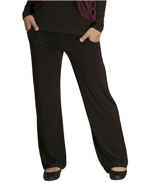 YALA Designs YALA Kayla Viscose from Bamboo Fold-Over Waist Lounge Pant