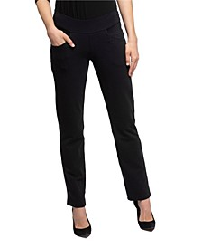 YALA Layla Straight Leg Organic Cotton and Viscose from Bamboo Pull-on Pant
